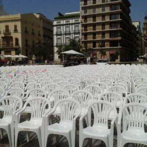 alquiler sillas plaza de la virgen valencia